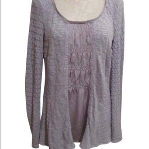Anthropologie Tops - 2X HP ANTHROPOLOGIE LAVENDER TUNIC